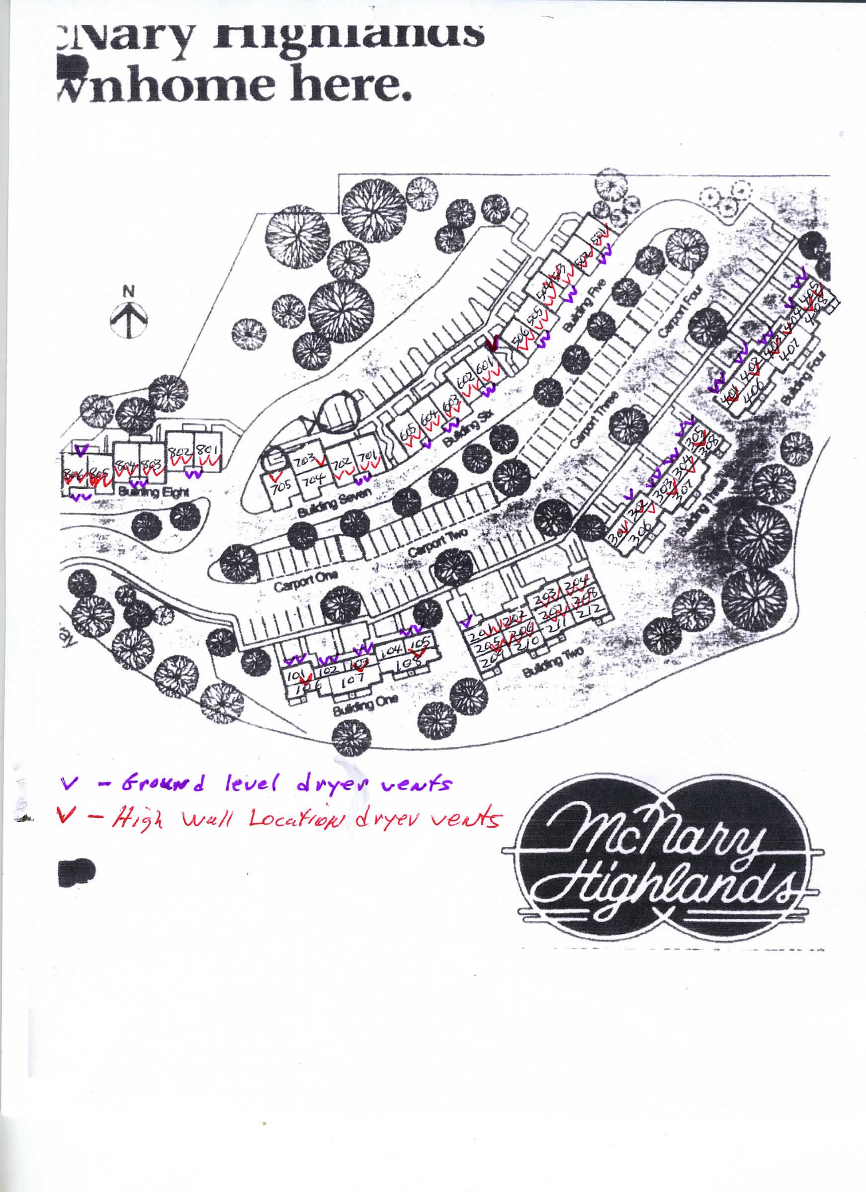 McNary Highlands HOA Site Plan